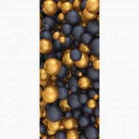 Fototapeta - DV1389 - Zlaté a čierne 3D gule