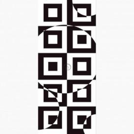 Fototapeta - DV1472 - Čierno-biela štvorcová 3D ilúzia