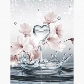 Fototapeta - PL1048 - Abstraktné kvety a voda