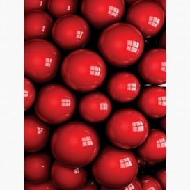 Fototapeta - PL1059 - Červené 3D guličky