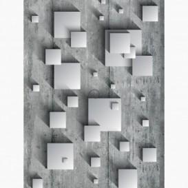 Fototapeta - PL1061 - 3D štvorce na betónovej stene