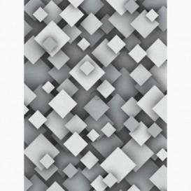 Fototapeta - PL1129 - Sivá štvorcová ilúzia