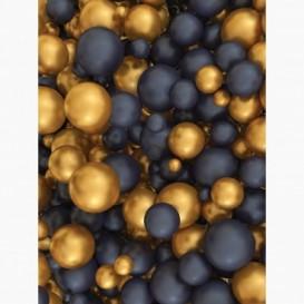 Fototapeta - PL1434 - Zlaté a černé 3D koule