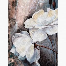 Fototapeta - PL1534 - Modro-fialové maľované kvety