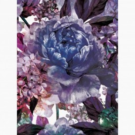 Fototapeta - PL1536 - Tyrkysovo-modré maľované kvety