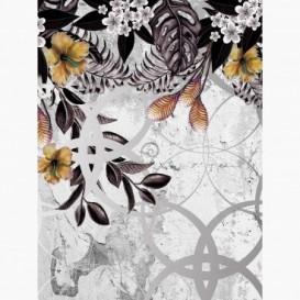Fototapeta - PL1566 - Abstraktná grafika s kvetmi