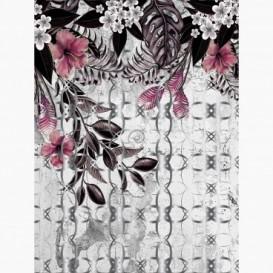Fototapeta - PL1567 - Abstraktná grafika s kvetmi