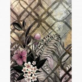 Fototapeta - PL1568 - Abstraktná grafika s kvetmi