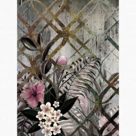 Fototapeta - PL1569 - Abstraktná grafika s kvetmi