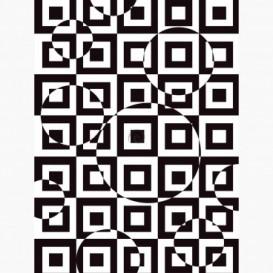 Fototapeta - PL1660 - Čierno-biela štvorcová 3D ilúzia