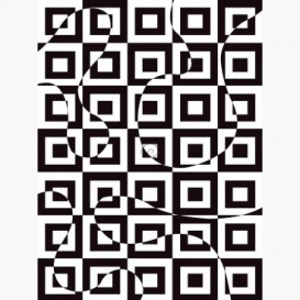 Fototapeta - PL1661 - Čierno-biela štvorcová 3D ilúzia