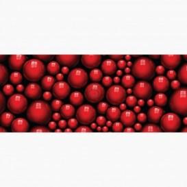 Fototapeta - PA5072 - Červené 3D guličky