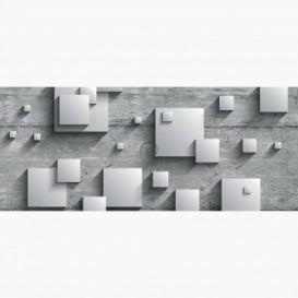 Fototapeta - PA5074 - 3D štvorce na betónovej stene