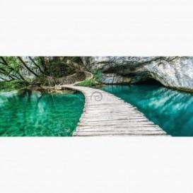 Fototapeta - PA5079 - Drevený chodník cez jazero