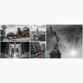 Fototapeta - PA5128 - Čiernobiela koláž - New York