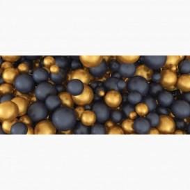 Fototapeta - PA5359 - Zlaté a čierne 3D gule