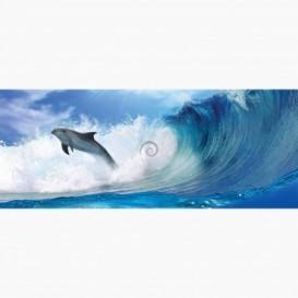 Fototapeta - PA5400 - Delfín na vlnách