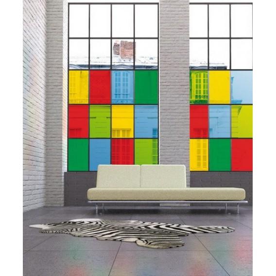 Samolepící transparentní fólie 200-1986 Jednobarevná žlutá lesklá 45cm x 15m