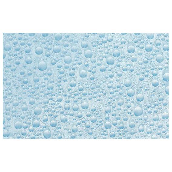Samolepící transparentní fólie 10482 Vodní kapky modré 90cm x 15m