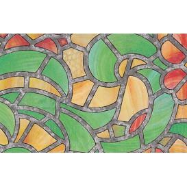 Samolepiaca transparentná fólia 10425 Vytrážne sklo Reims zelená/žltá 67,5cm x 15m