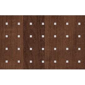 Perforovaná samolepiaca fólia 12777 Jelša tmavá strieborné štvorčeky 130cm x 15m