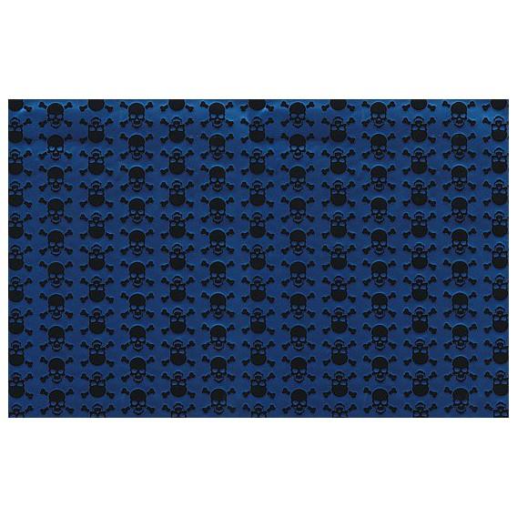 Samolepící fólie 12652 Lebky metalicky modrá 45cm x 15m