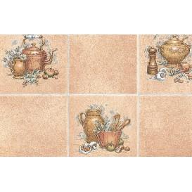 Samolepiaca fólia 10216 Pot hnedá kachličky 45cm x 15m