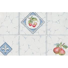 Samolepiaca fólia 11843 Ovocie sivá kachličky 45cm x 15m