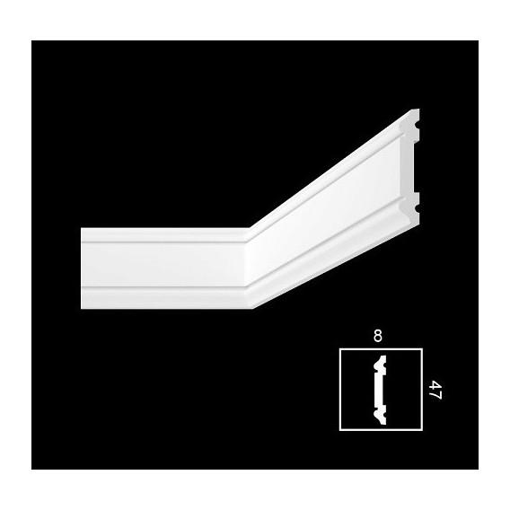 Nástěnná dekorační lišta-tvrzená-PWH-3 2m (8x47mm)