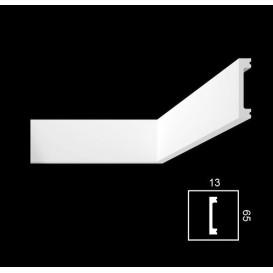 Nástěnná dekorační lišta-tvrzená-PHD-1 2,2m (13x65mm)