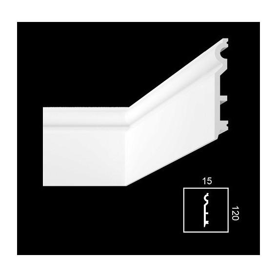 Soklová lišta PHF-2 2m (15x120mm)