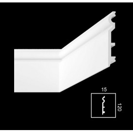 Soklová lišta PHF-2 2m(15x120mm)