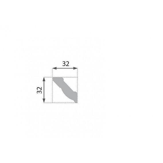 Polystyrenová stropní lišta PB-2 2m (32x32mm)