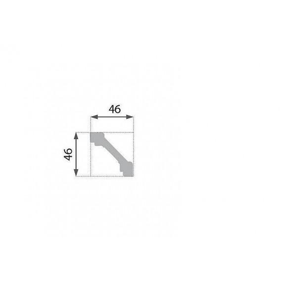 Polystyrénová stropná lišta PB-3 2m (46x46mm)