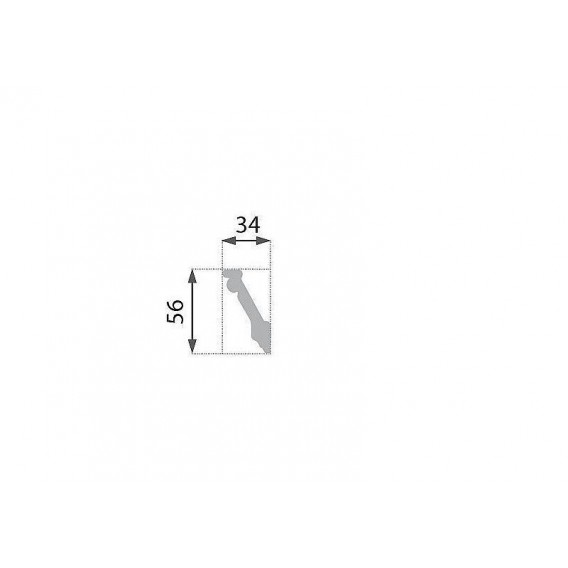Polystyrénová stropná lišta PB-5 2m (34x56mm)