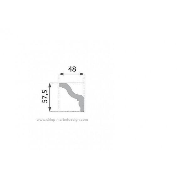 Polystyrénová stropná lišta PB-8 2m (48x57,5mm)