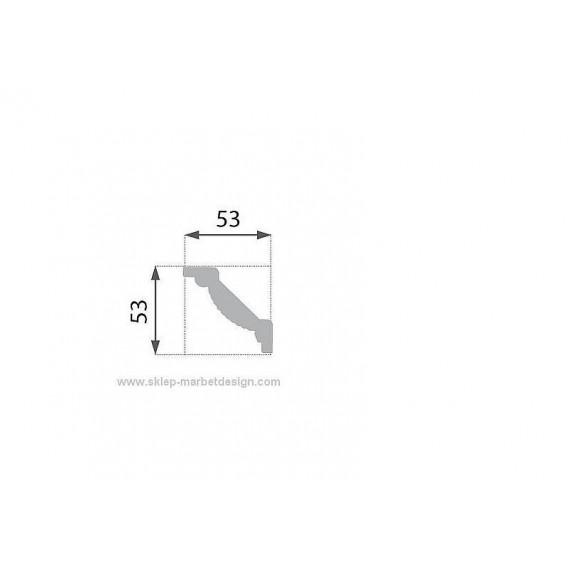 Polystyrénová stropná lišta PB-9 2m (53x53mm)