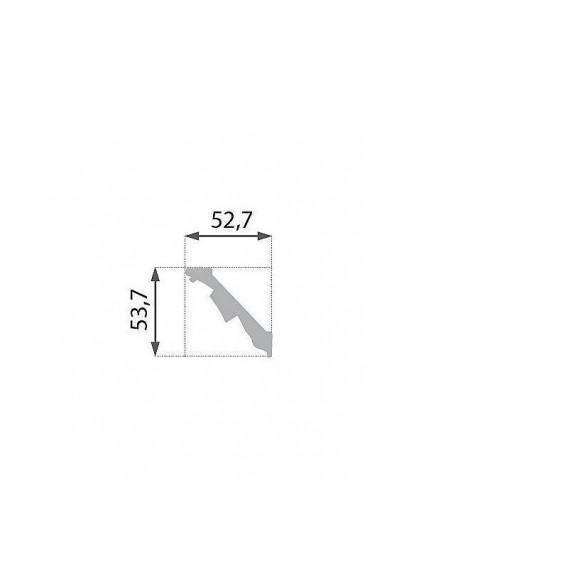 Polystyrénová stropná lišta PB-13 2m (52,7x53,7mm)