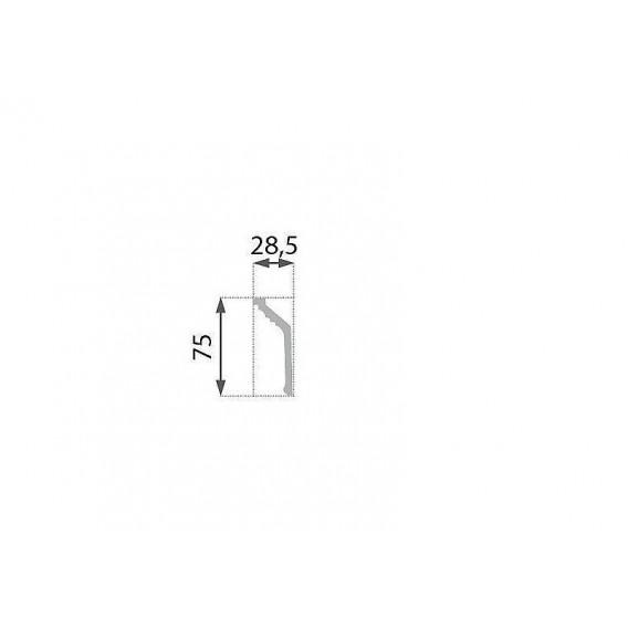 Polystyrénová stropná lišta PB-19 2m (28,5x75mm)