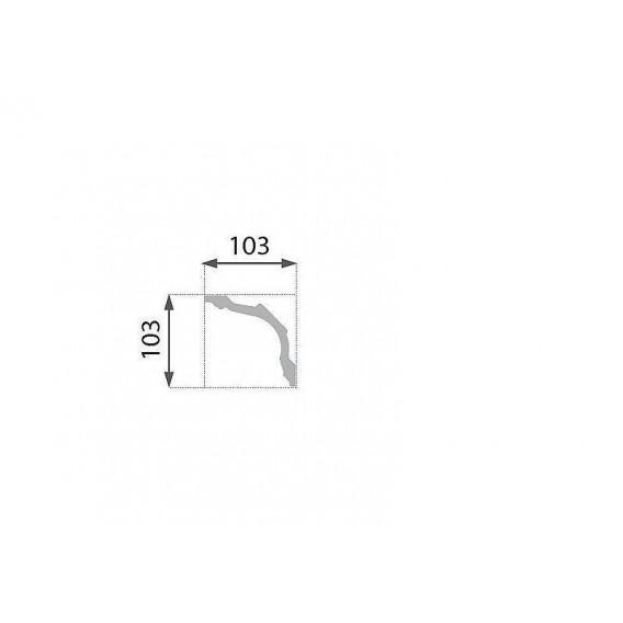 Polystyrenová stropní lišta PB-28 2m (103x103mm)