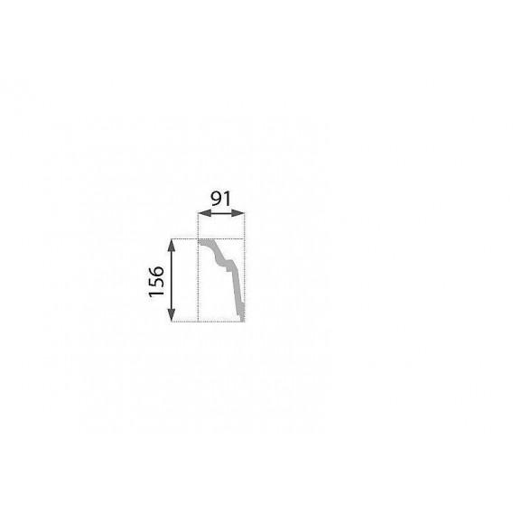 Polystyrénová stropná lišta PB-33 2m(91x156mm)
