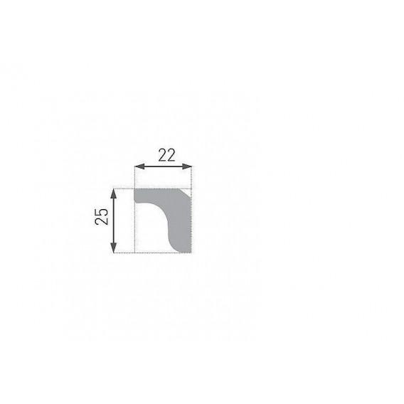 Polystyrenová stropní lišta PE-3 2m (22x25mm)