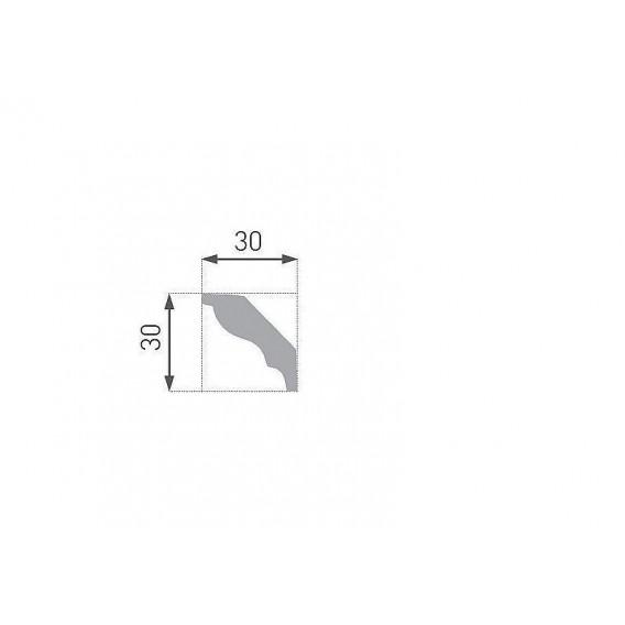 Polystyrénová stropná lišta PE-4 2m(30x30mm)