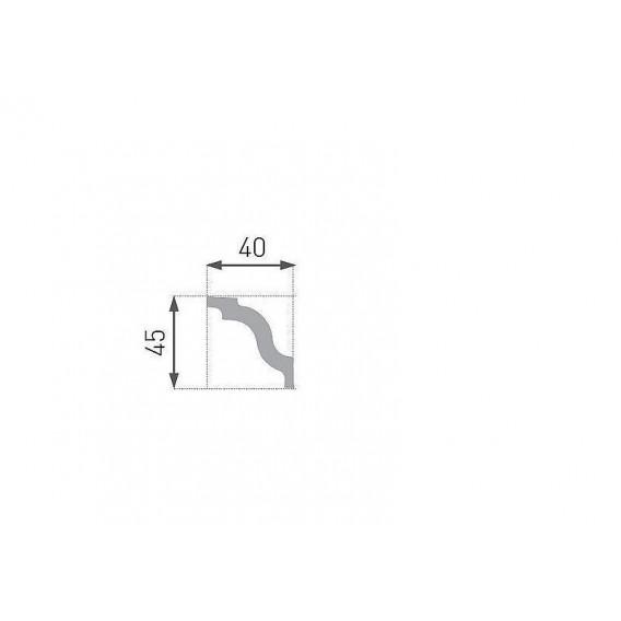 Polystyrénová stropná lišta PE-5 2m(45x45mm)