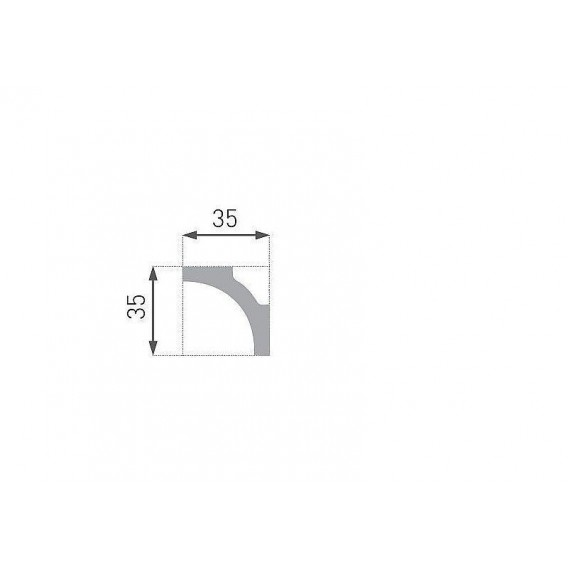 Polystyrenová stropní lišta PE-11 2m (35x35mm)
