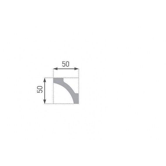 Polystyrenová stropní lišta PE-12 2m (50x50mm)