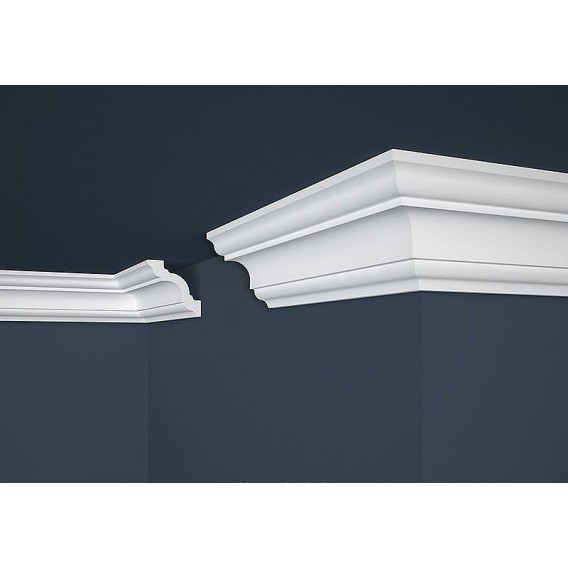 Polystyrenová stropní lišta PE-15 2m (80x80mm)