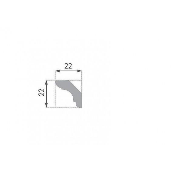 Polystyrénová stropná lišta PE-23 2m(22x22mm)