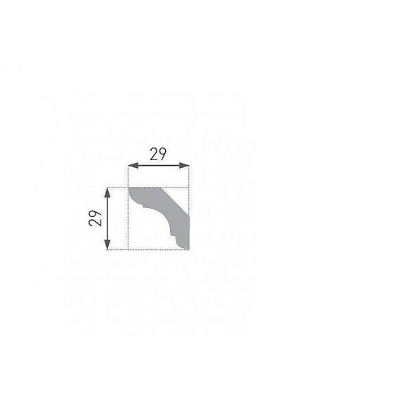Polystyrénová stropná lišta PE-24 2m(29x29mm)