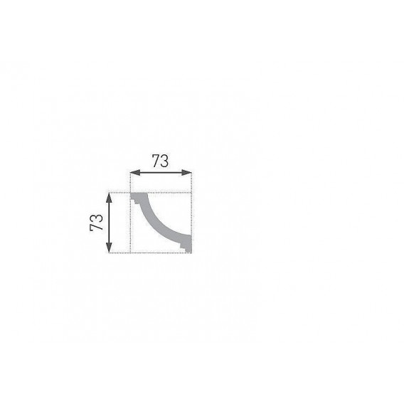 Polystyrenová stropní lišta PE-26 2m (73x73mm)